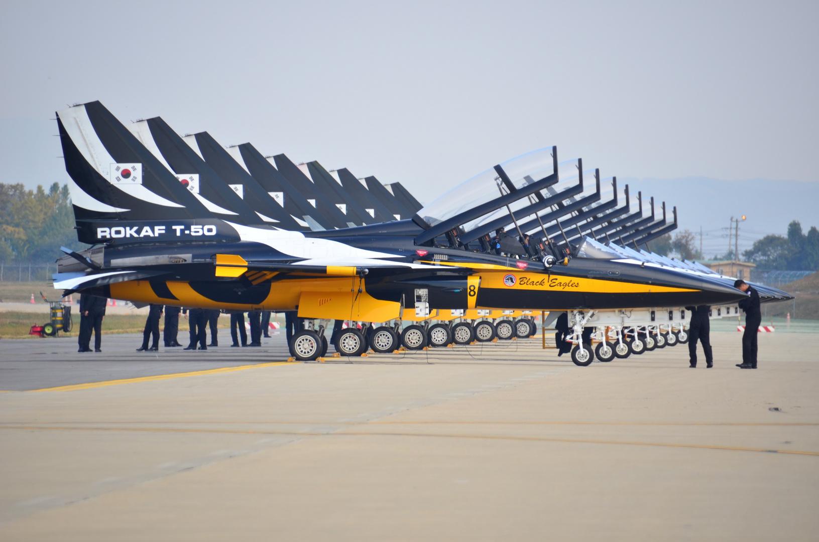 Back Eagles at the air show Osan AFB Korea