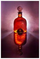 backlit bottle with cork