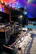 Backstage-hinterm Roten Vorhang
