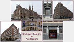 Backstein-Solitäre in Amsterdam