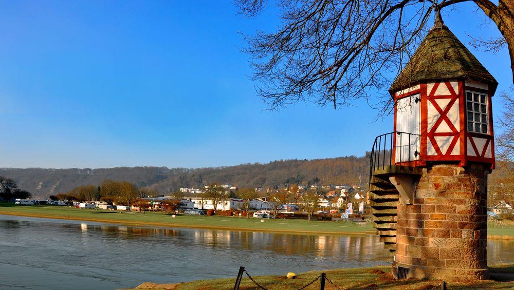 Bad Karlshafen, an der Weser