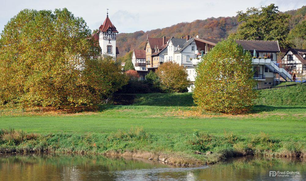 Bad Karlshafen, Spaziergang an der Weser