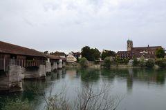 Bad Säckingen mit historischer Holzbrücke