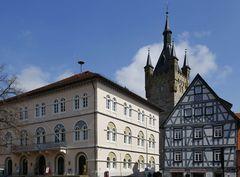 Bad Wimpfen - Rathaus und Blauer Turm