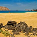 baden am ruhigen Playa de las Conchas