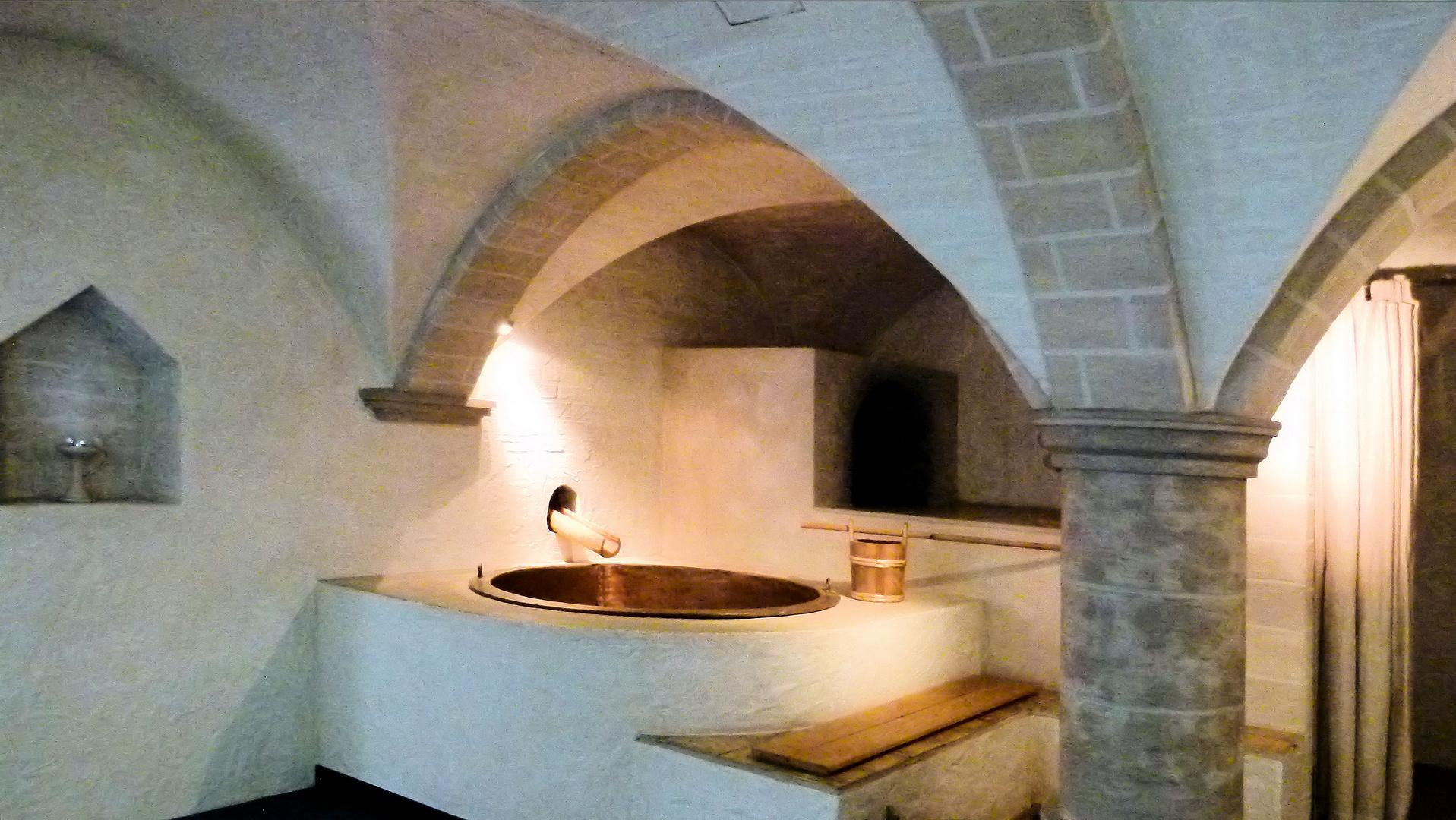 baden in in Schloß Corwei