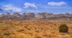 Badlands entlang des Burr Trails