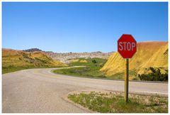 Badlands, South Dakota im Frühling, oder....