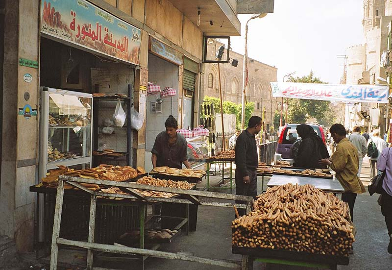 bäckerei in der altstadt von kairo