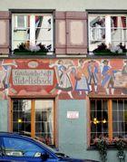 Bäckereifassade in der Paradiesstraße
