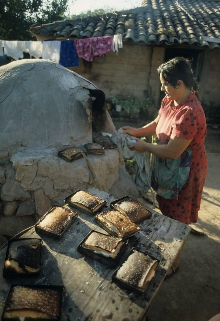 Bäckerin, El Salvador 1987