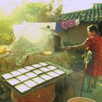 Bäckerin in El Salvador 1987