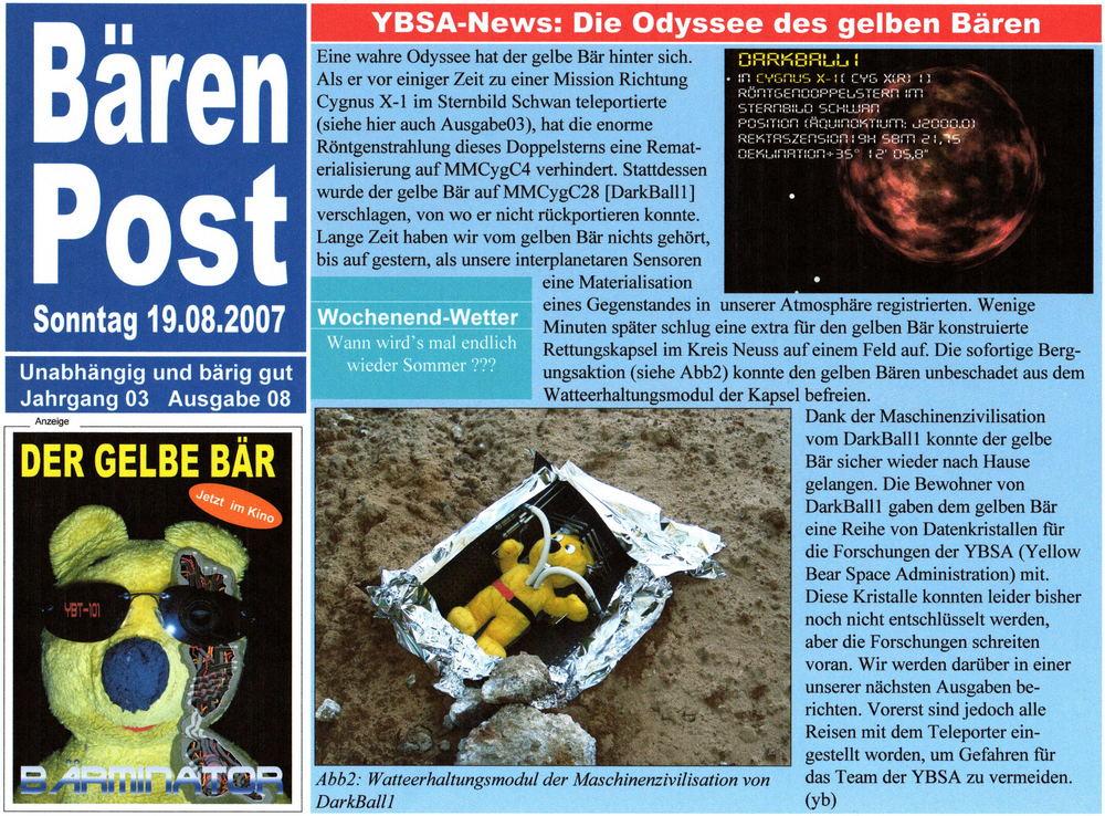 Bärenpost Ausgabe 08/2007