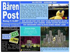 """Bärenpost Ausgabe 09/2007 -Der gelbe Bär wünscht guten Rutsch"""""""