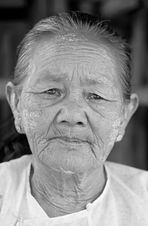 Bäuerin aus Myanmar