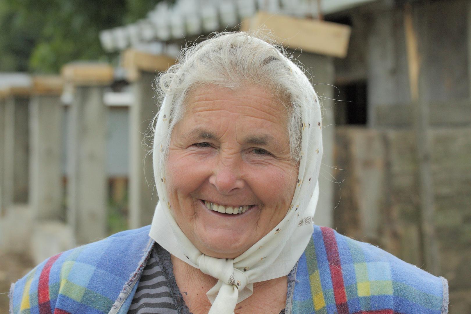 Bäuerin in der Maramuresregion