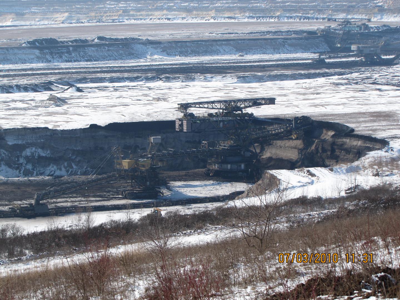 Bagger 1553 im Tagebau Profen