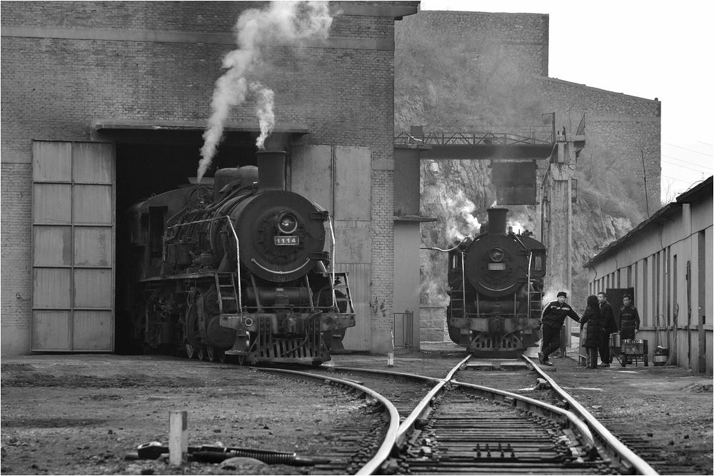 Bahnbetriebswerk Beitai - Fachgespräche