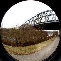 Bahnbrücke über den Rhein