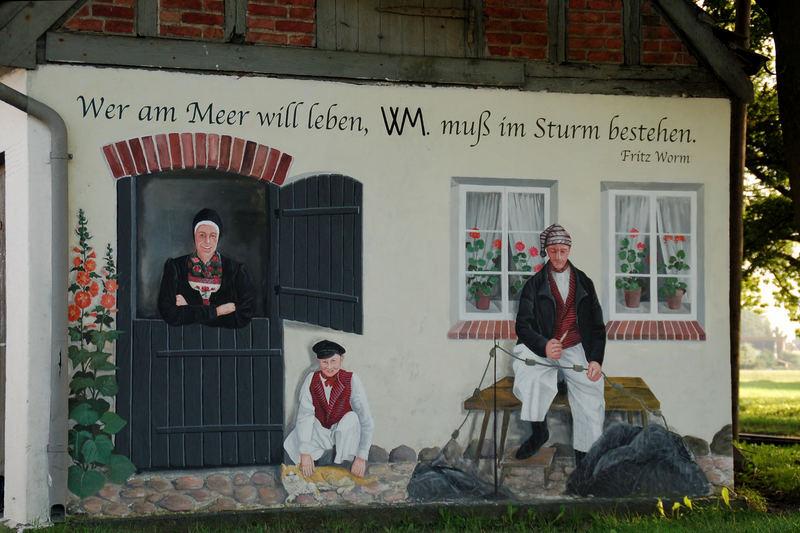 Bahnhof auf der Insel Rügen