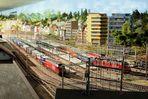 Bahnhof Brig vom vom Hausdach aus gesehen