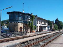 Bahnhof Büdingen nebst Fahrdienstleiterstellwerk