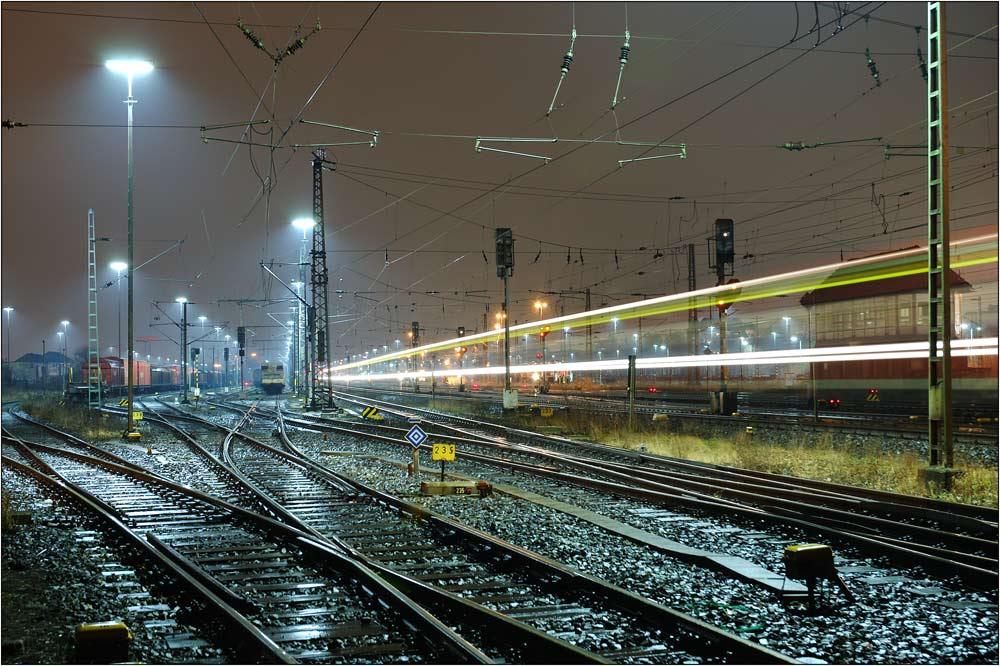 Bahnhof Fischerhof bei Nacht (II)