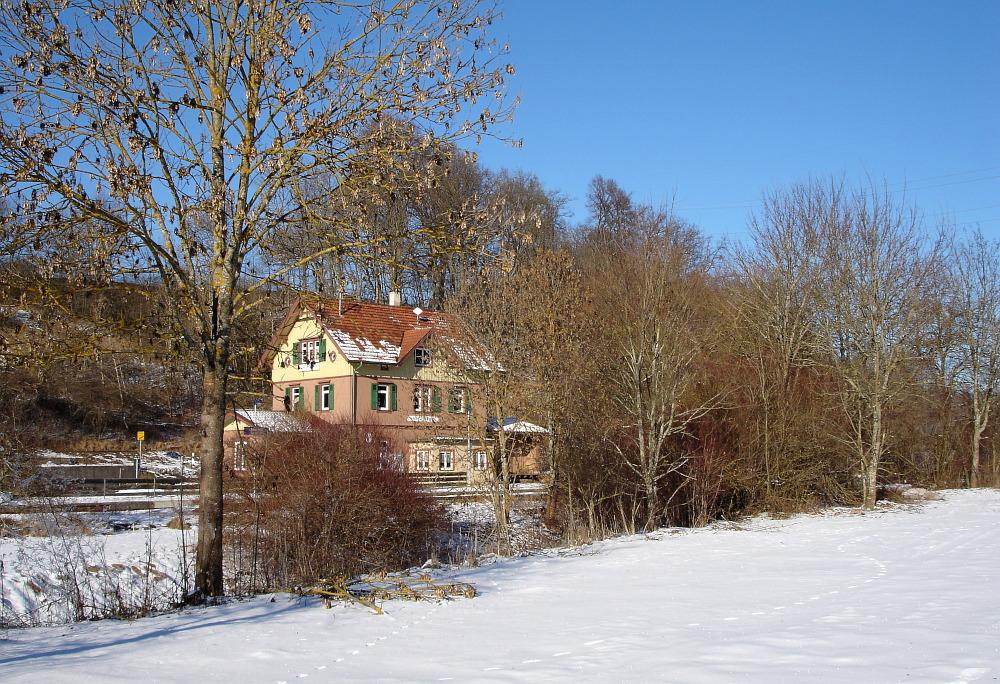 Bahnhof im Schnee I