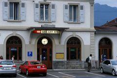 Bahnhof  in Aigle, Schweiz