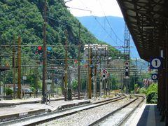 Bahnhof in Bozen (Südtirol) II