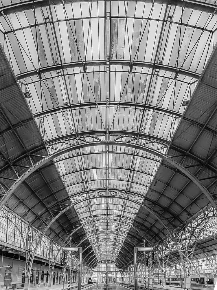 Bahnhof in Prag