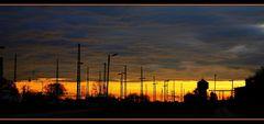 Bahnhof ins Morgenrot