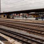 Bahnhof Köthen -Blick auf Bahnsteige