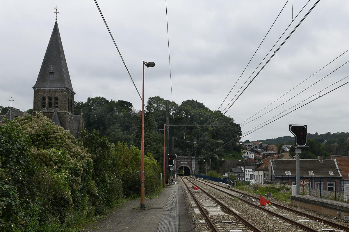 Bahnhof Pepinster- Gleis gesperrt Richtung Luettich (B)