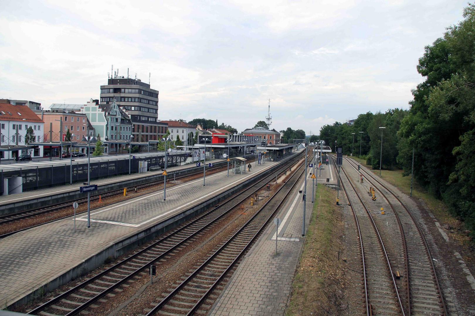 Bahnhofsgelände in Memmingen