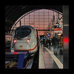 Bahnhofsonnenuntergang