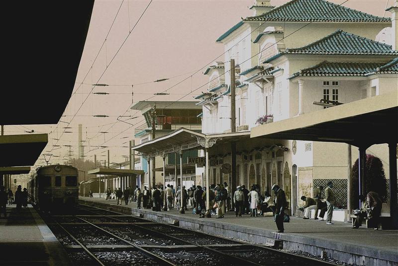 Bahnsteig im Norden Portugals