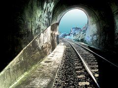 Bahntunnel Büdesheim Winter