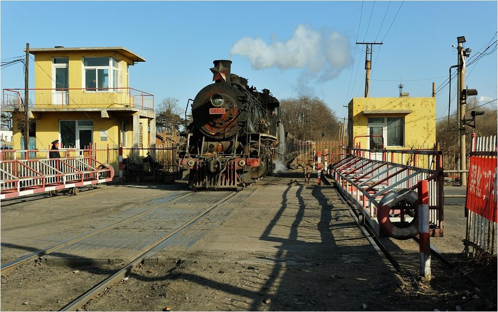 Bahnübergänge in Fuxin III - Ein Klassiker...