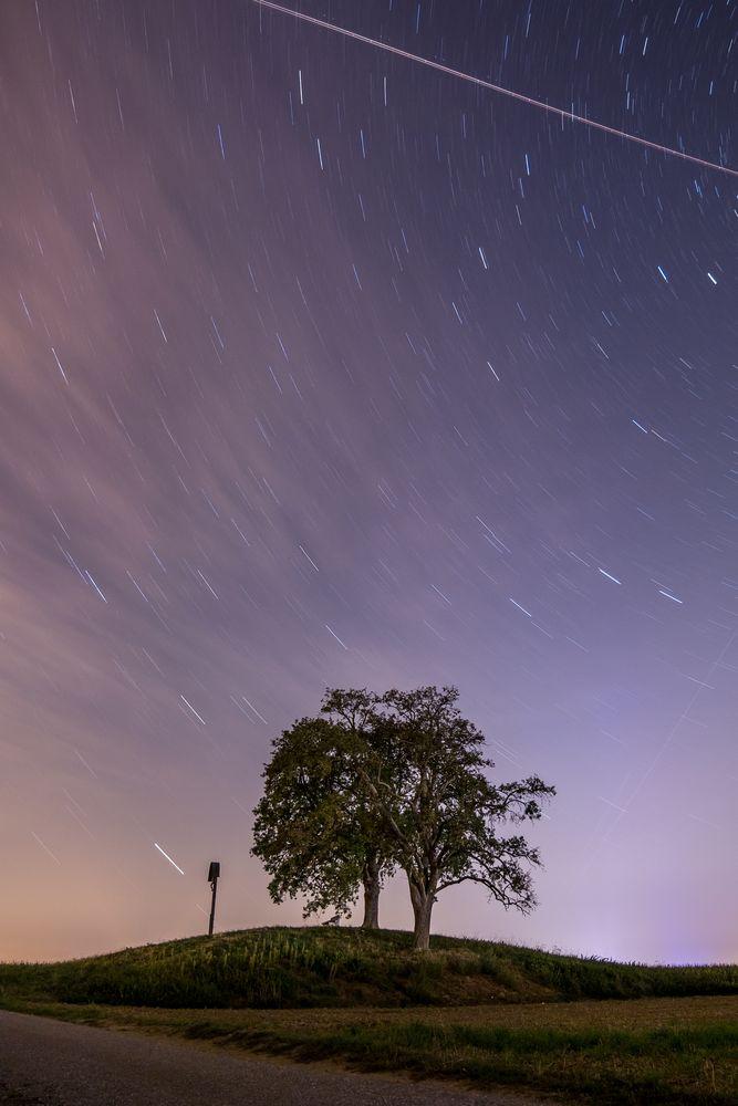 Baisinger Bühl bei Nacht