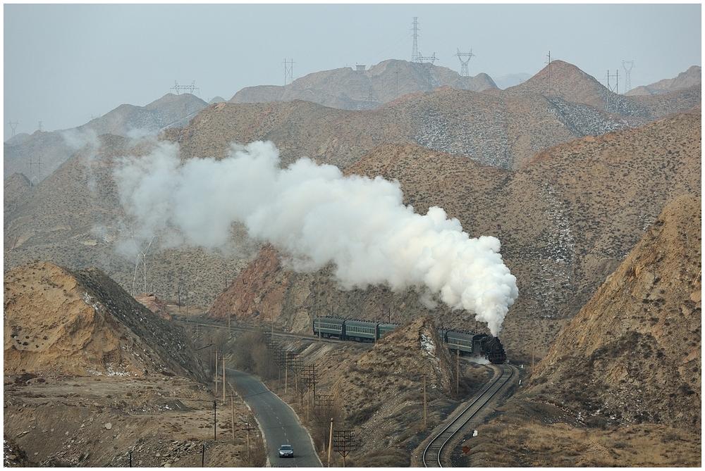Baiyin 2013 - VI - Die erste morgendliche Bergfahrt