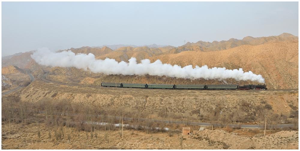 Baiyin 2013 - VIII - Die erste morgendliche Bergfahrt