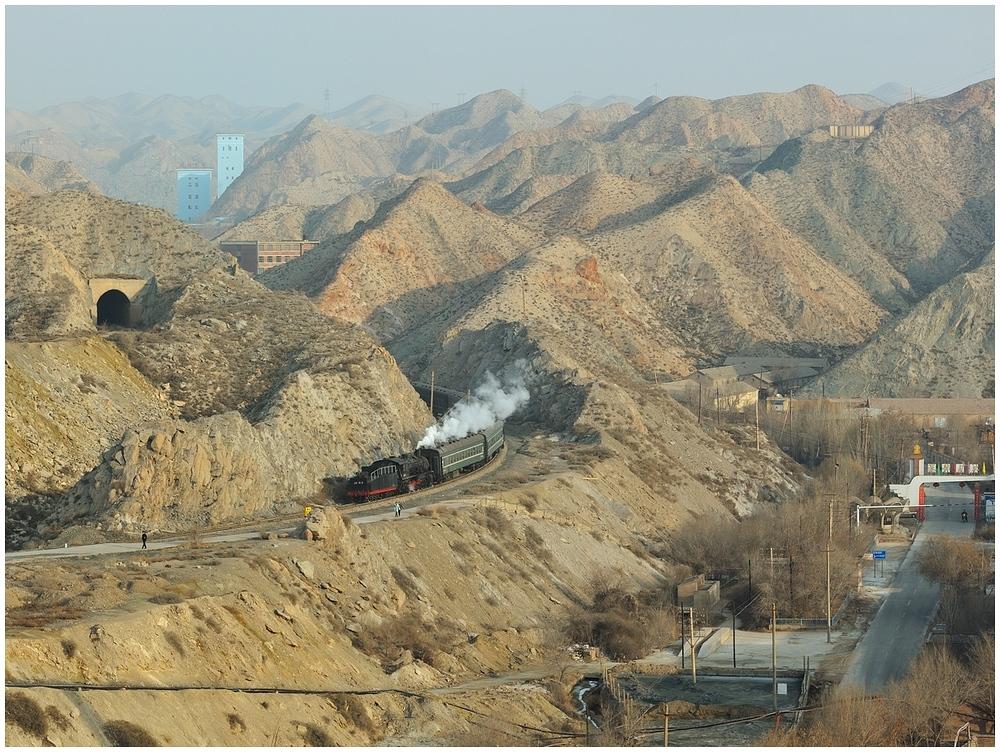 Baiyin 2013 - X - Die erste morgendliche Talfahrt