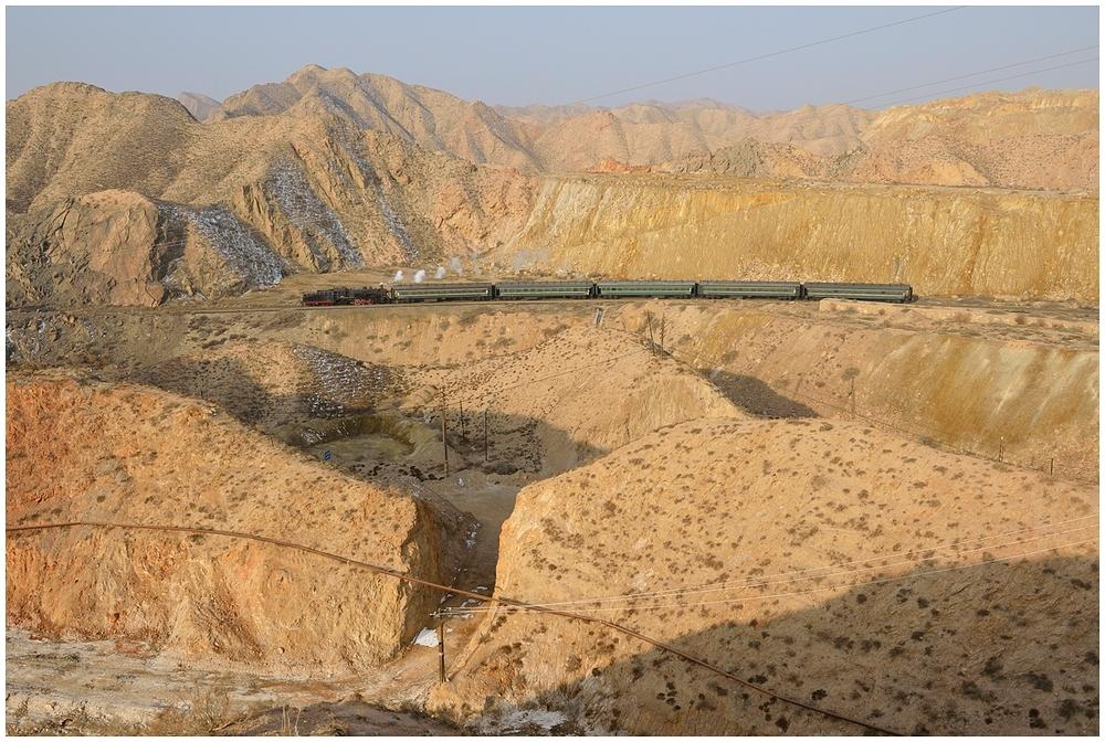 Baiyin 2013 - XI - Die erste morgendliche Talfahrt