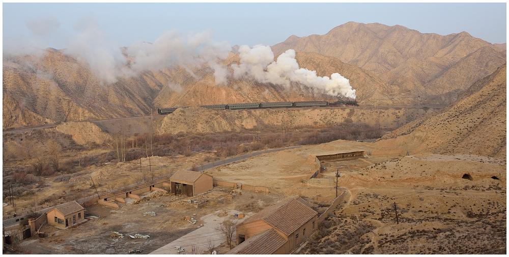 Baiyin 2013 - XIX - Die zweite morgendliche Bergfahrt