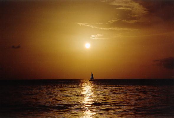 Bajan sunset...