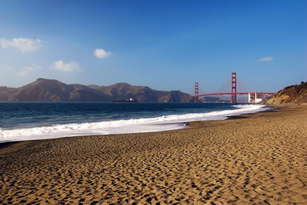 Bakers Beach mit Golden Gate