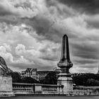 Balade parisienne sur le pont Alexandre III .