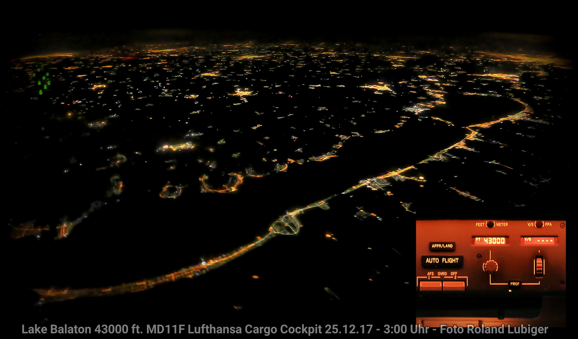 Balaton bei Nacht