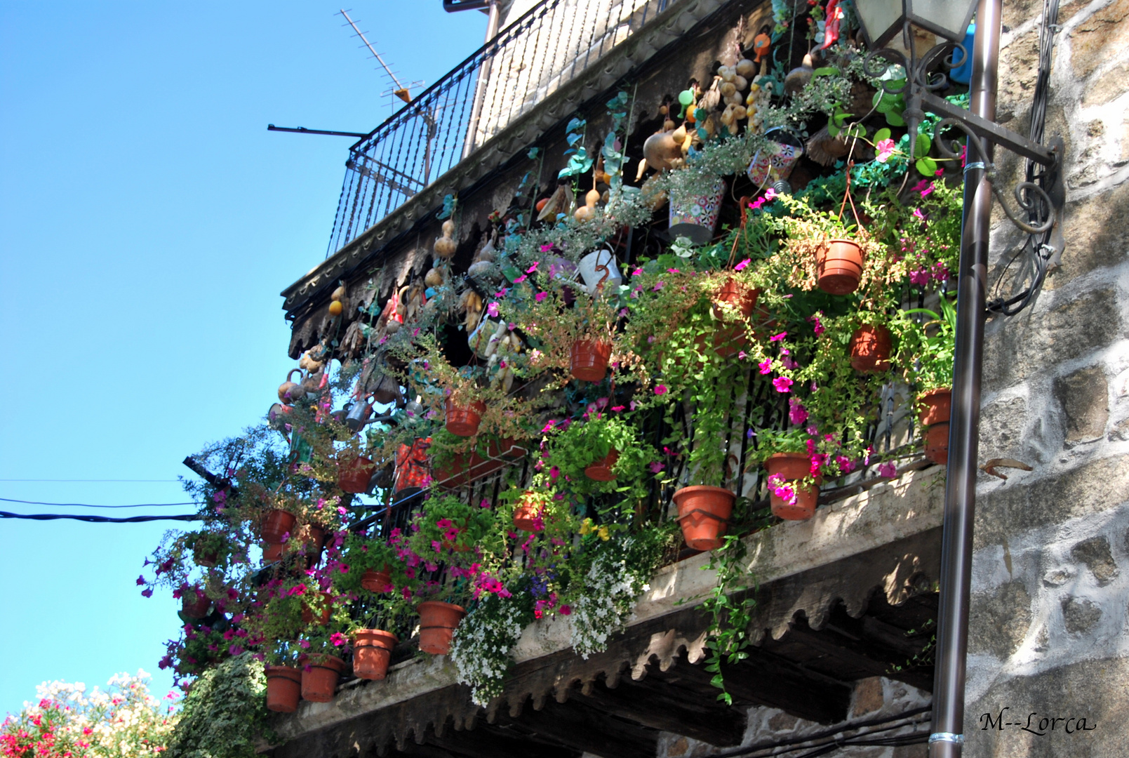 balcon florido y adornado ( la alberca